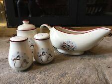 Royal Seasons Snowman Christmas Stoneware Serve Ware Lot!