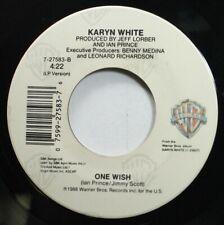 Soul 45 Karyn White - One Wish / Slow Down On Warner Brothers