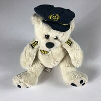 "Air France Plush Bear Pilot Captain Planes Flying 12"" Stuffed Teddy Soft Cuddly"