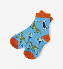 Little Blue House by Hatley Kids' T-Rex Crew Socks (4-7 years old)