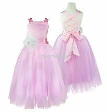 Flower Girls Tutu Dress Pageant Wedding Bridesmaid Birthday Party Crossed Back