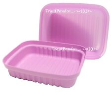Tupperware Bread Keeper Pastry Server Saver Daisy Purple Storage Container New