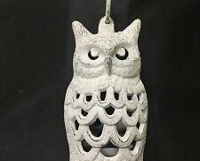 New listing White Owl Cast Iron Oriental Garden Deck Patio Candle Lantern
