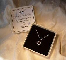Gift for a friend Jewellery Sterling silver heart pendant Personalized box