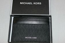 Michael Kors Men's Genuine Leather Black Card Holder Case NIB