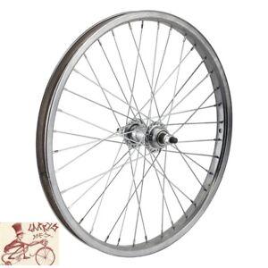 "WHEELMASTER  FREEWHEEL  20"" x 1.75""  CHROME STEEL BICYCLE REAR WHEEL"
