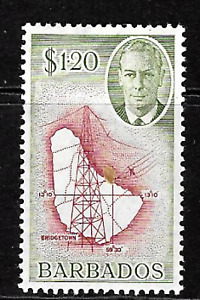 Barbados .. 1950 .. $1.20 .. Mint(MNH) S.G.No.281 .. 6950
