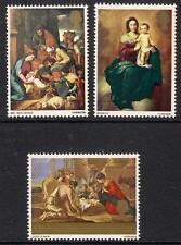 GB 1967 sg756-58 Christmas Paintings Madonna & Child Shepherds set MNH