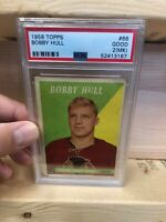 Bobby Hull 1958 Topps Rookie Card #66 (PSA 2)