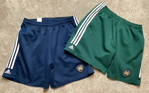 Men's Size XL Notre Dame Shorts Lot of 2, Adidas Soccer Shorts, Blue And Green