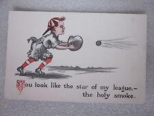 1910's era baseball novelty postcard You look like the star of my League