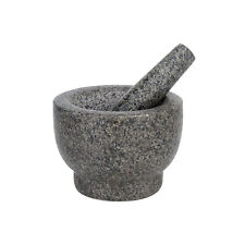 Mortar and Pestle Set Polished Heavy Granite + Anti-Scratch Pad, 500ml 2.1 Cup
