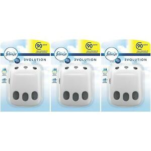 3 x Febreze Ambi Pur 3Volution Air Freshener Mains Plug-In Refill Odour Diffuser