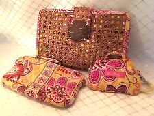 "Vera Bradley Clutch Bag ""Bali "" & ID Coin Purse and Wallet"