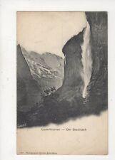Lauterbrunnen Der Staubbach Switzerland Vintage U/B Postcard 948a