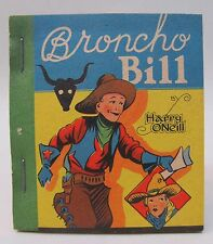 1935 BRONCO BILL Harry O'Neill TARZAN Ice Cream Premium book  High Grade MINT