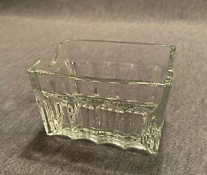 Tablecraft Glass Ribbed Clear Glass Sugar Packet Holder. Nice!