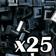 NEW LEGO - TILES - Black 1x1 - x25-  1 x 1 smooth flat tile