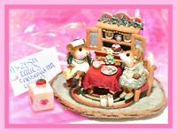 ❤️Wee Forest Folk Tillie's Christmas Tea M-285a LIMITED Cupboard Holiday WFF❤️