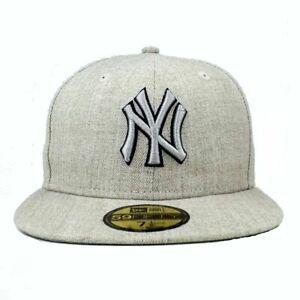 New Era 59Fifty Basecap New York MLB beige melange grau