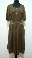 PENNY BLACK Abito Vestito Donna Lino Flax Woman Dress Sz.L - 46