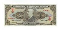 5 Cruzeiros Brasilien 1953 C066 / P.158a Brazil Banknote