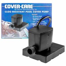 Danner Clog Resistant Pool Cover Pump 25' Grounded Cord Energy Efficient 300 GPH