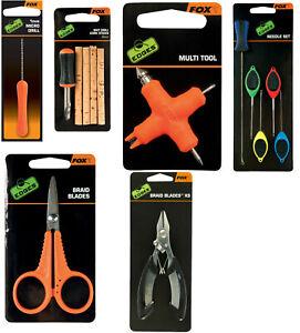 Fox Edges Micro Drill Bait Multi Tool Needle Set Braid Blades Fishing Tools