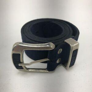 """Levi 501 Men's Suede Embossed Belt W42"""" 105cm Blue Jean Style Belt Casual 161328"""