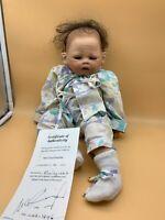 Nel Groothedde Künstlerpuppe Porzellan Puppe 44 cm. Top Zustand
