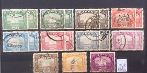 Aden 1937 George VI Set To 5r Fine Used Stamps On Page.