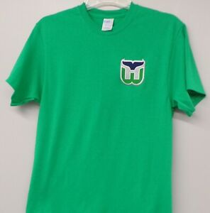 Hartford Whalers NHL Hockey Embroidered T-Shirt S-6XL, LT-4XLT New England New