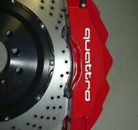 4 Pegatinas sticker brake caliper Audi quattro pinzas de freno 10 cm