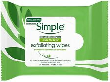 Simple Exfoliating Facial Wipes 25 Each (Pack of 7)