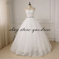 Ball Gown Wedding Dresses Sweetheart Tulle Crystal Beaded Princess Bridal Gowns