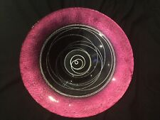 Black, bright pink and silver design bowl bought from Sterling i