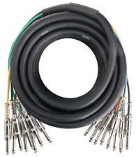 Cable Multicore DJ PA Scene Enregistrement 16 Connecteurs Jack 6,3mm Longeur 10m