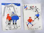 Pair of Vintage Dag Skicraft Post Cards / Post Card - Unused
