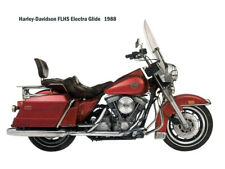 Motorcycle Canvas Picture HD FLHS ElectraGlide 1988 Canvas 16x12 inch