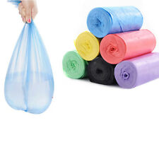 50x/Roll Garbage Bag Household Storage Clear Disposable Kitchen Waste Trash Blue