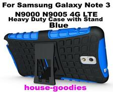 Blue Heavy Duty Strong Protective Case Cover Stand For Samsung Galaxy Note 3