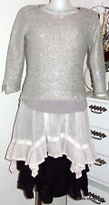 Ester Elenora Sequin Pullover Selina Grey Cream Sweater with Sequins S M L