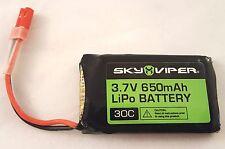 OEM Sky Viper V2400HD Drone Battery 3.7V 650mAh LiPo 30C S1700 Stunt Hover Racer
