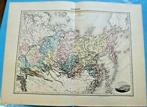 Art Print Original edition by Lacoste ch. 1891 Affiche scolaire Sibérie Tobolsk