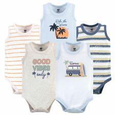 Hudson Baby Boy Sleeveless Bodysuits, 5-Pack, Gone Surfing