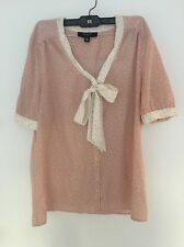 Jason Wu For Target Pink And White Polka Dot Buttoned Blouse Size XL