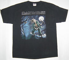 Vtg Iron Maiden Black Cotton Short Sleeve Graphic T-shirt Size Large