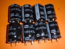8x Elko 470µF/160V 105°C 22x30mm Snap-In 470uF