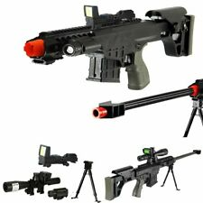 *315 FPS* Scout Sniper Tactical Airsoft Rifle M82a1 Gun M107 - RED-DOT LASER