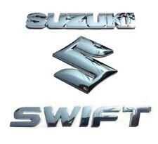 Suzuki Swift Rear Grill Badge Emblem Chrome Silver Tail Gate 3D Logo Set S2u